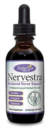 A single bottle of Nervestra liquid neuropathy supplement