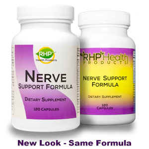 Nerve Support Formula bottles old and new