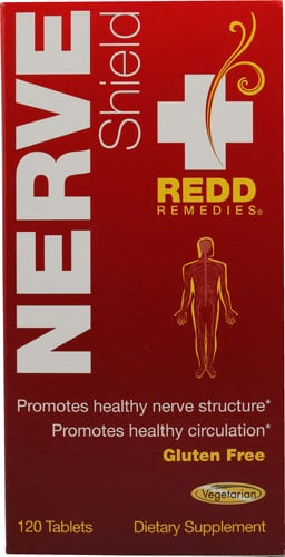 Nerve Shield front label by Redd Remedies