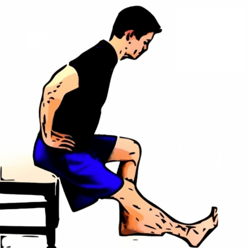 A man doing seated hamstring stretch