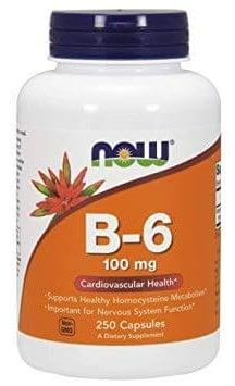 25 capsules bottle of vitamin b6