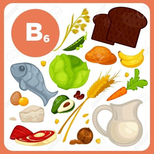 Vector food with vitamin B6.
